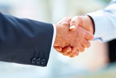Corporate Counsel shaking hands